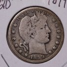 1899-O 25C Barber Silver Quarter. Good Plus Circulated Coin. #1790