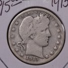 1913-D 25C Barber Silver Quarter. Good Circulated Condition. SALE#1826