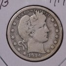1914-D 25C Barber Silver Quarter. Good Circulated Condition. SALE#1832