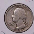 1934-D 25C Washington Silver Quarter. Collectible Coin. Good Coin. #1880