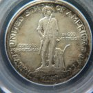 1925 50C Lexington Commemorative. Nice Early Generation PCGS MS62 Holder.