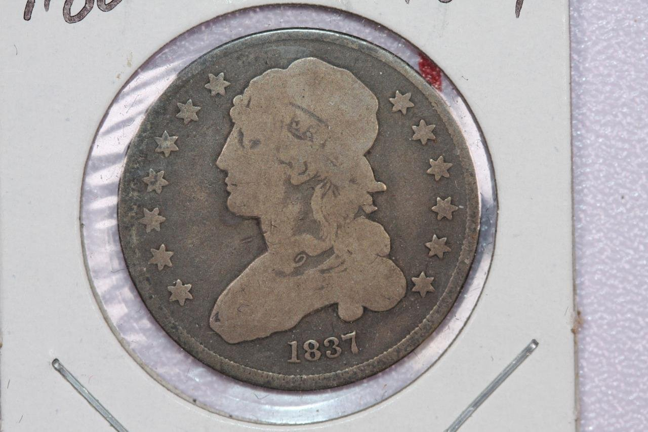 1837 25C Capped Bust Quarter, Very Good Circulated Condition, Nice Coin.  #2281