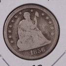 1856-O 25C Liberty Seated Quarter,  Good Circulated Coin. B-3B,Store Sale. #2321