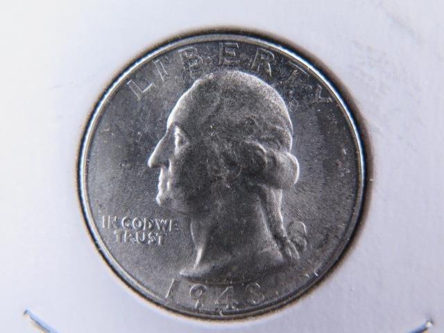 1948-S 25C Washington Silver Quarter. Gem Brilliant UN-Circulated. NICE #9518