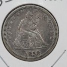 1858 25C Liberty Seated Quarter, Top Notch, Extra Fine Coin. Store Sale. #2327