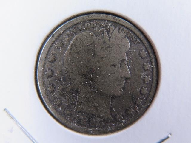 1895 25C Barber Silver Quarter. Good Circulated Condition. Store Sale #9430