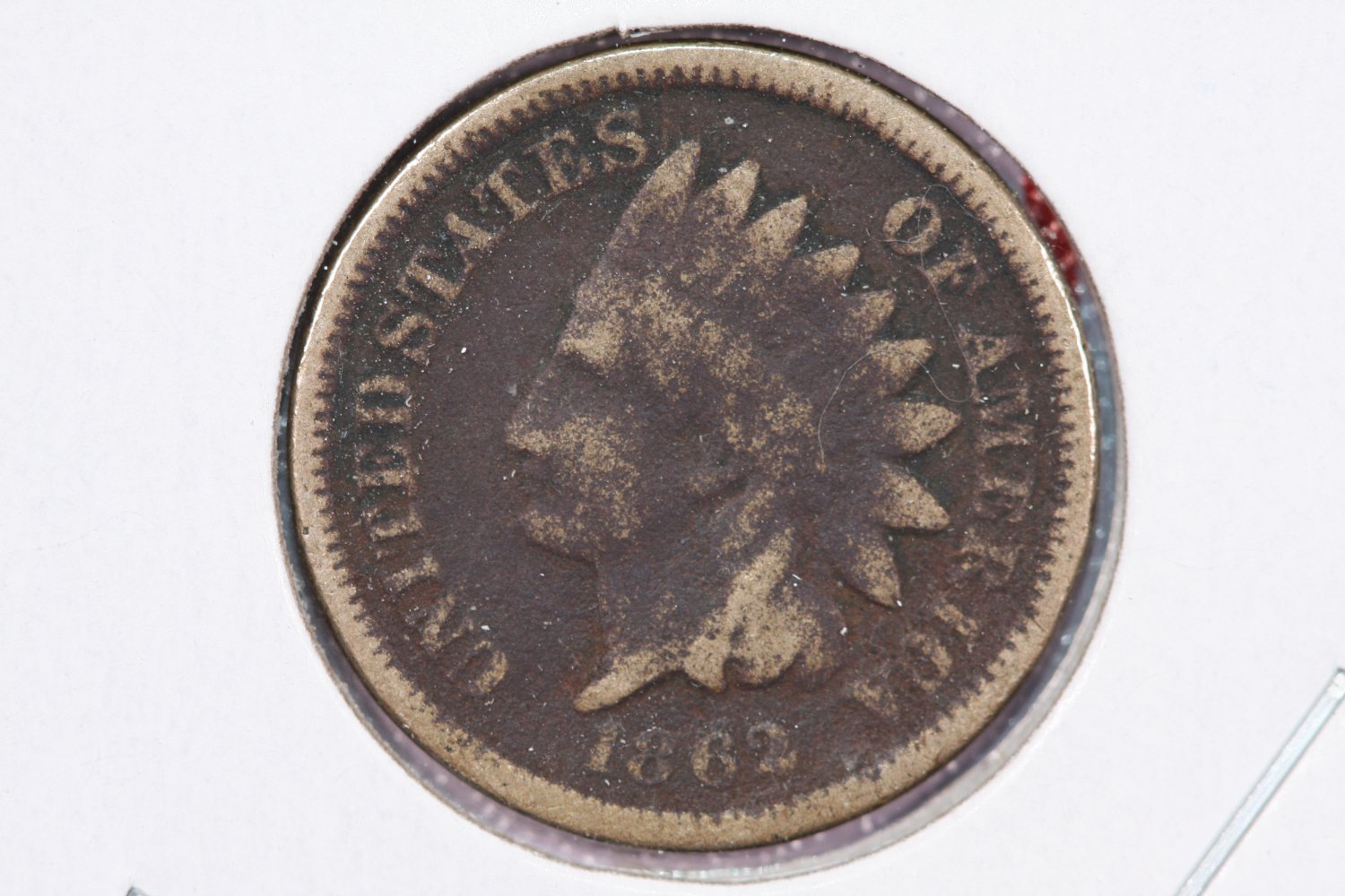1862 1C Indian Head Cents, Nice Fine Circulated Coin.  SALE #2479