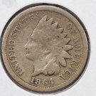 1864 1C Indian Head Cents. Copper Nickel (CN) Good Circulated Coin. SALE#2487