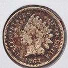 1864 1C Indian Head Cents. Copper Nickel (CN) Good Circulated Coin. SALE#2489