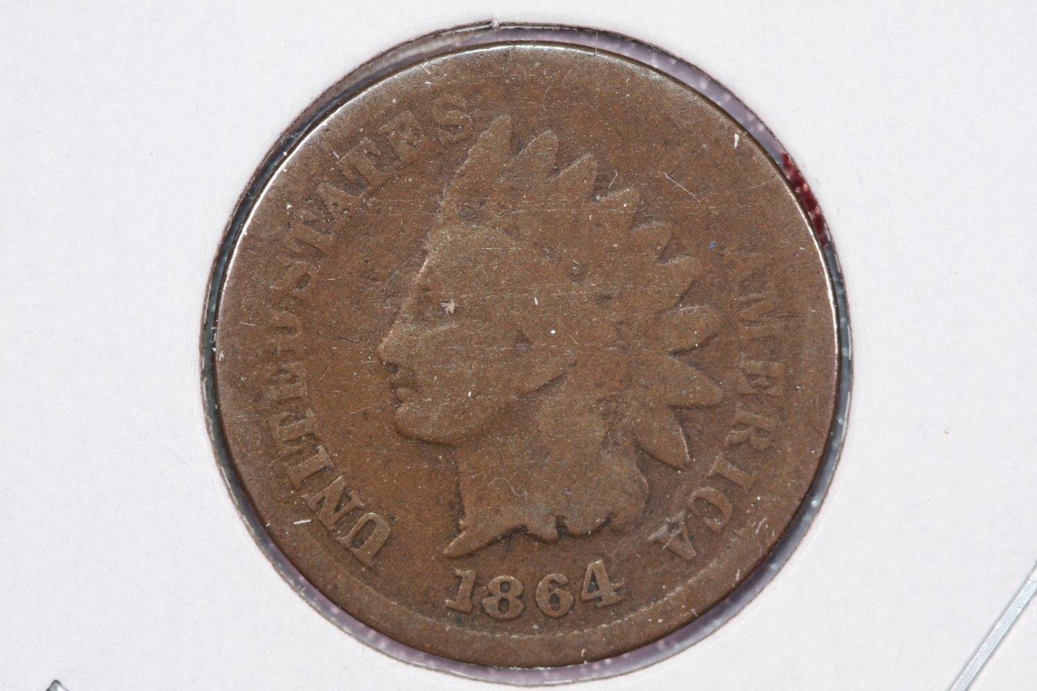 1864 1C Indian Head Cents. Bronze, Good Circulated Coin. Store Sale#2491
