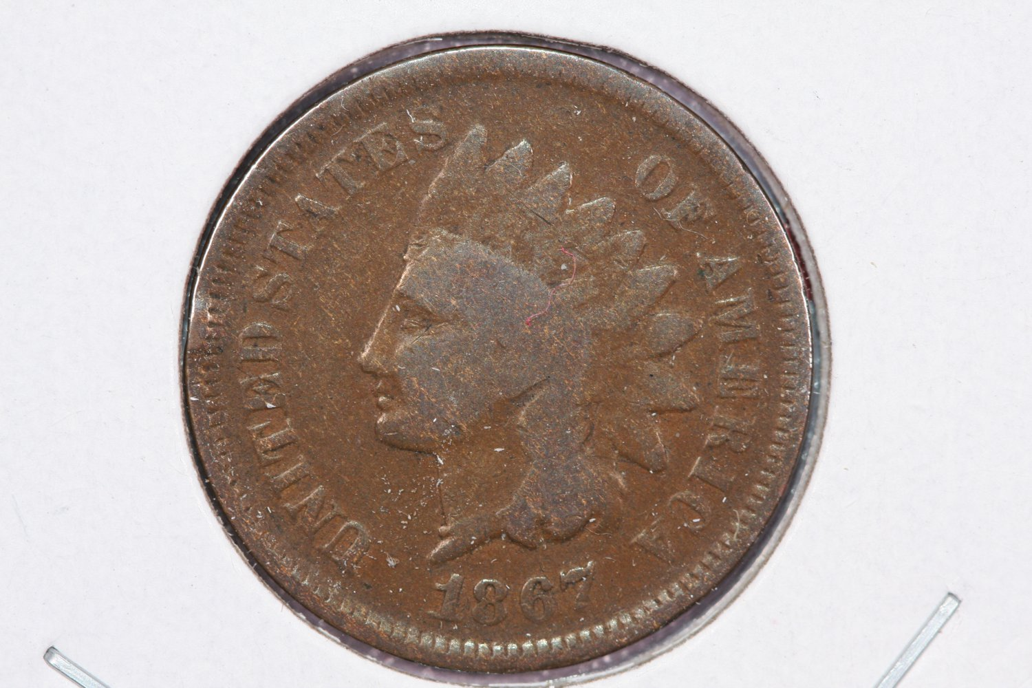 1867 1C Indian Head Penny.  About Good and Affordable Coin. Store Sale#2509