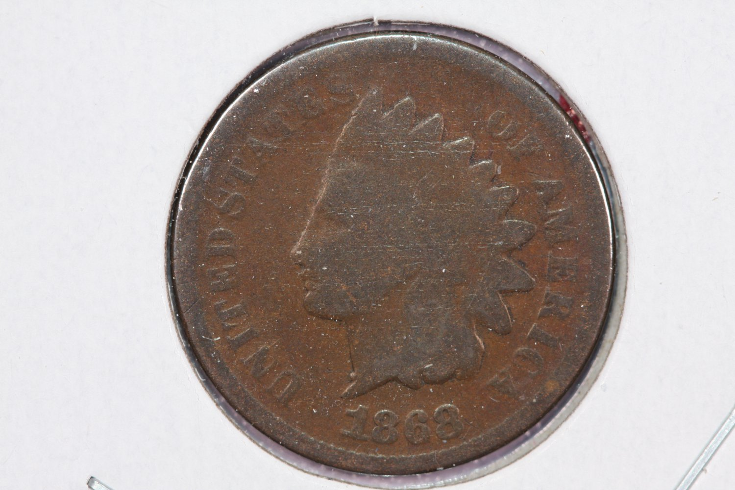 1868 1C Indian Head Cents, Fair Circulated Condiition. Affordable Coin #2511