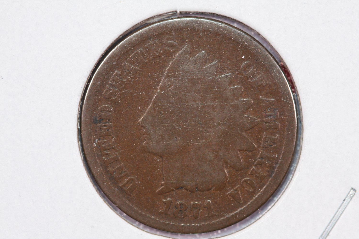 1871 1C Indiain Head Cents, Fair Circulated Condiiton. Store Sale #2525