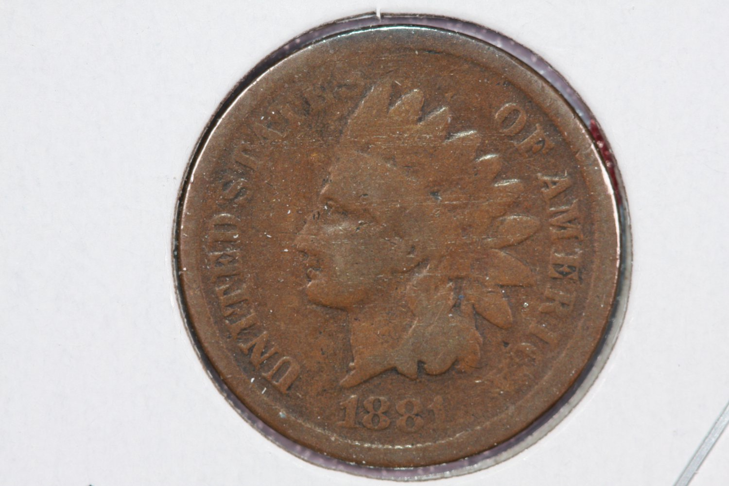 1881 1C Indian Head Cents. Good Circulated Coin.  Store Sale #2561