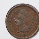 1901 1C Indian Head Penny.  Good Circulated Coin. SUMMER COIN SALE #2643