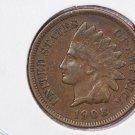 1908 1C Indiain Head Cents. Choice Very Good Circulated Coin. Super Sale #2669