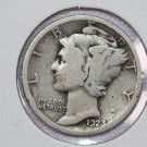 1923 10C Mercury Silver Dime. Good Circulated Coin. Store #2715
