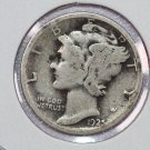 1925 10C Mercury Silver Dime. Good Circulated Coin. Store # 2725