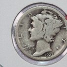 1927-S Mercury Silver Dime. Good Circulated Coin. SALE #2737