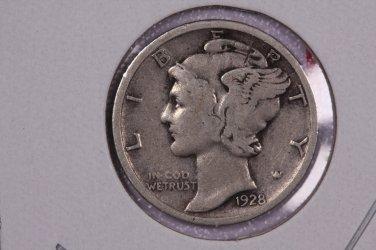 1928 10C Mercury Silver Dime. Good Circulated Coin. SALE#2741