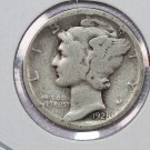 1928-S 10C Mercury Silver Dime. Good Circulated Condition. SALE #2745