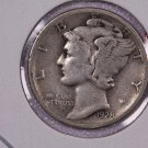 1928-S 10C Mercury Silver Dime. Good Circulated Condition. SALE #2747