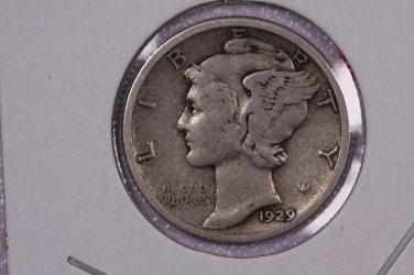 1929 10C Mercury Silver Dime. Good Circulated Coin. STORE #2749