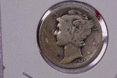 1929-D 10C Mercury Silver Dime. Good Circulated Coin. STORE #2751