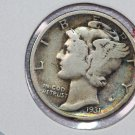 1931 10C Mercury Silver Dime. Good Circulated Coin. STORE #2757