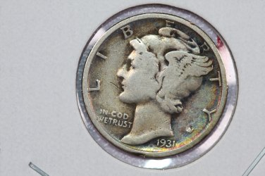 1931 10C Mercury Silver Dime. Good Circulated Coin. STORE #2757