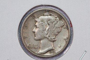 1931-S 10C Mercury Silver Dime. Good Circulated Coin. STORE#2761
