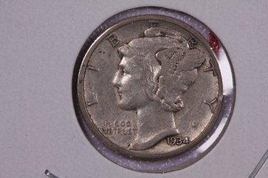 1934-D 10C Mercury Silver Dime. Good Circulated Coin. STORE#2765