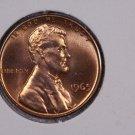 1965 1C Lincoln Memorial Penny.  Brilliant Red, UN-Circulated Coin.