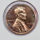 1971-S Lincoln Memorial Penny.  Choice Brilliant Proof, UN-Circulated Coin. Proof Strike.