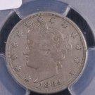 1884 5C Liberty Nickel.  Choice PCGS Certified VF30.  Nice Eye Appeal.