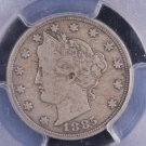 "1885 5C Liberty Head Nickel.  ""Key Date"". Low Mintage. Problem Free. PCGS VG10."