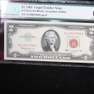 $2 1963 Legal Tender Note.  PMG  Choice UN-Circulated 66.  E.P.Q. #3799