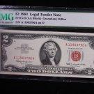 $2 1963 Legal Tender Note.  PMG Certified.  CU-66, E.P.Q.  Nice Note. #3797