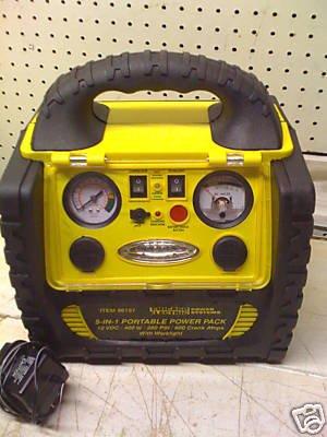 5-in-1 Portable Power Pack Power inverter, jumper