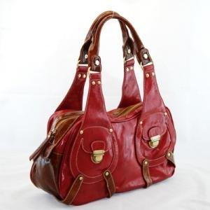 Fun Red/Dk Brown Handbag