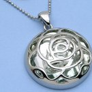 Fun Flower Pendant on Silver Chain