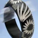 Fun Tribal Black/Khaki Bangle Bracelet