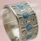 Fun Blue/Silver Clasp Bracelet