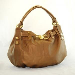 Fabulous Tan Oversized Handbag with Gold Accents