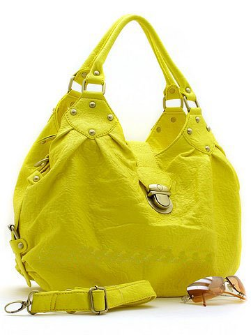 Fun Yellow Handbag w/silver accents