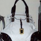 Fun White Handbag w/Silver accents