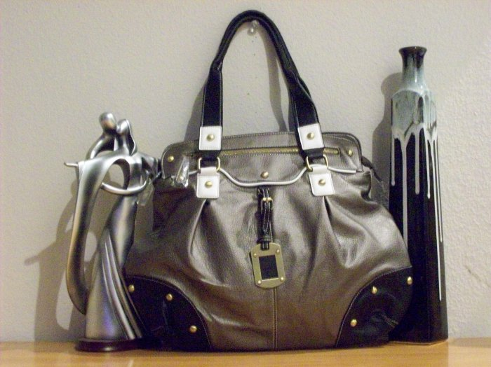 Fun Metallic Handbag w/accents