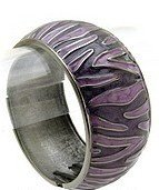 Fun Black/Purple Swirl Metal Cuff Bracelet