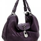 Fabulous Large Purple Handbag w/silver accents