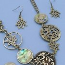 Fun Pewter Necklace and Earring Set